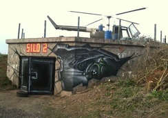 helicopter mural