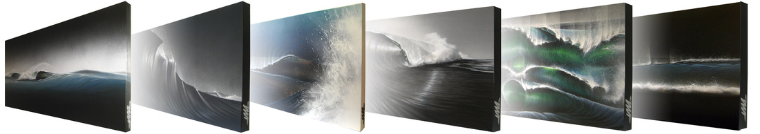 surf art wave paintings